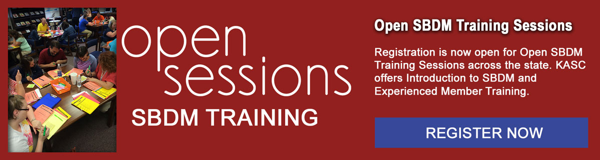 Register for Open SBDM Training Sessions